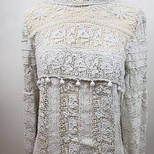 Vintage Dolce&Gabbana open crochet knit blouse